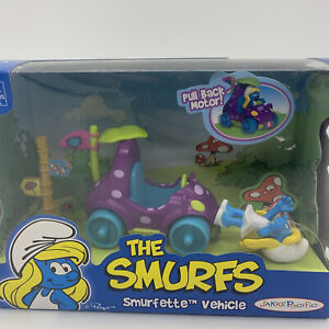 The Smurfs Smurfette Car Vehicle with Action Figure Pink Peyo 2008-2009