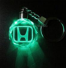 Honda Kristall Auto Logo LED Schlüsselanhänger Nachttischlampe Schlüssel Kette