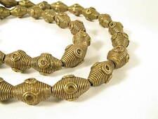 Schöner Strang Messingperlen Gelbguß Ghana Brass Beads Ashanti Akan M Afrozip