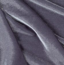 """VELVET STRETCH SPANDEX CHARCOAL 60"""" FORMAL WEAR PAGEANT  DANCE SOLD BY YARD"""