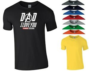 Dad I Love You 3000 T Shirt Funny Daddy Father's Day Birthday Gift Men Tee Top
