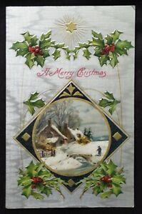 Antique Christmas Card Embossed design
