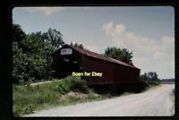 Covered Bridge in Gibson County, Indiana in 1968, Original Slide aa 3-15b
