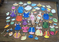 Original Vintage  Paper Doll Cut Outs With  Clothing Cut Outs