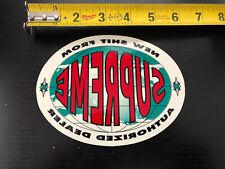 Supreme Authorized Dealer Sticker