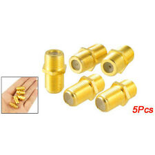 5 Pcs F-Type Female to Female Coaxial Barrel Coupler Adapter Connector N3R7