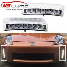 For Nissan 350Z 03-05 LED DRL Daytime Running Light Switchback Bumper Reflector