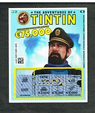 Tintin - Capitaine Haddock - Loterie - Billet à gratter.