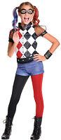 Deluxe Harley Quinn Kids Girls Superhero Official DC Fancy Dress Costume 620712