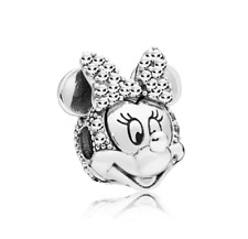 Fashion 925 Silver Minnie Charm European Spacer Beads Fit Necklace Bracelet  !!!