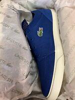 LACOSTE Men's Bayliss 219 1 CMA Blue Size 8 Brand New