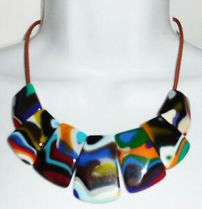 Sobral Kandinsky Vibrant Colored Franz Statement Necklace Brazil Import