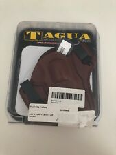 """Tagua DCH-952 Dual Clip Holster, S&W N Frame 4"""", Brown, Left Hand NEW!"""