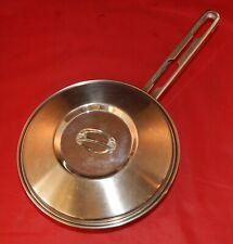 """Tramontina INOX-18/10-20cm, Heavy Duty Stainless Steel 8 1/2"""" Frying Pan w/Lid"""