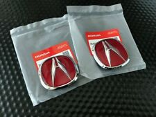 GENUINE OEM HONDA ACURA 97-01 INTEGRA TYPE-R FRONT & REAR RED 'A' EMBLEM SET DC2