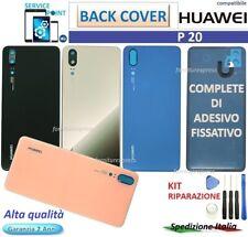 ⭐VETRO POSTERIORE SCOCCA  BACK COVER HUAWEI P20 EML-L09 L29 AL00 VETRINO CAMERA
