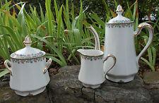 Porcelaine de Limoges Trois pièces de service à thé ou café @