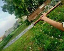 CUSTOM HANDMADE DAMASCUS STEEL 34 INCHES SPEAR SWORD WITH SHEATH