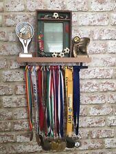 🏆Beech Medal & Trophy Display Shelf Gymnastics🏅Football🏅Tennis🏅Cricket Sport