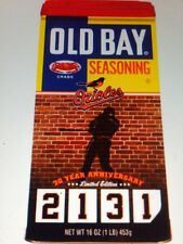 Cal Ripken Jr. 2131 20th Anniversary Old Bay- limited edition
