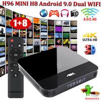 H96 MINI H8 Android 9.0 Pie Dual WIFI Smart TV BOX Quad Core USB 4K RK3228A pf