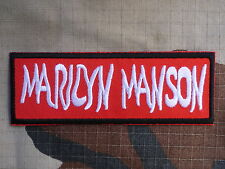 ECUSSON PATCH toppa aufnaher THERMOCOLLANT MARILYN MANSON groupe rock /9.4X5.3cm