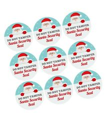9x Santa Security Seal Do Not Tamper Sticker Keep Kids Out of Presents Boxes
