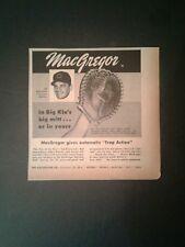 1957 Macgregor Baseball Big Klu's Mitt Redlegs Gloves ODDBALL SPORTS Promo Ad