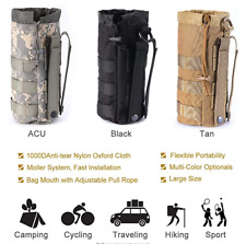 US FAST Upgraded Tactical Drawstring Molle Water Bottle Holder Tactical Pouches
