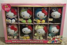 Brand New In A Box Hello Kitty 50th Anniversary 8 Mini Plush Set Sanrio Friends