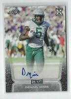 2019 Leaf Draft Denzel Mims AUTO RC, Baylor - NY Jets Rookie!