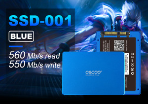 256GB SSD 2.5 Inch SATA OSCOO Read up to 560 MB/s III 6Gb/s for PC MAC LAPTOP