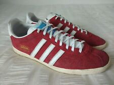 Adidas Gazelle Men's Red Suede Leather Trainers Size UK10, EU44