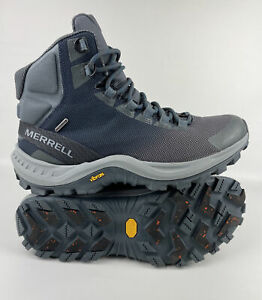 Merrell Thermo Cross 2 Mens Sz 10 Mid Waterproof Walking Boot Grey/Blue 200G NWT