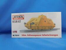 Attack Hobby Kits RESIN 1/72 Schw. Schienenpanzer Infanteriewagen RE72315