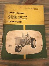 JOHN DEERE VINTAGE 3010 ROW CROP TRACTOR OPERATOR'S MANUAL SHIPS QUICK & FREE!