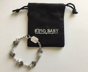 King Baby Crowned Heart Chain Bracelet