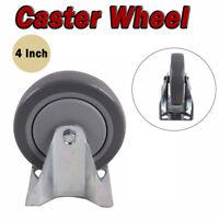 Heavy Duty Swivel Rubber Castor Caster Wheels Cart Trolley 100 mm Silver+black