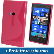 Rosa Custodia Dual Tone TPU Gel per  Nokia Lumia 920 Windows Cover Rigida