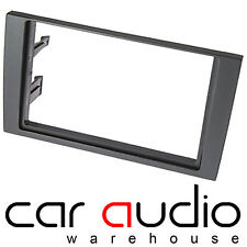 Autoleads DFP-05-07 Audi A4 02-07 Car Stereo Double Din Black Fascia Facia Panel