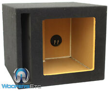 "SINGLE 10"" 100% MDF SQUARE KICKER SUBWOOFER PORTED ENCLOSURE BASS SPEAKER BOX"