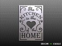 KITCHEN HEART OF HOME -- Metal Decor Sign Wall Art Rustic Farmhouse Country USA
