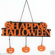 1X Halloween 3D Pumpkin Citrouille Banner Guirlande Suspendu Décor Maison Bar NF