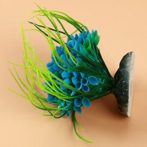 Ornament Plastic Grass Artificial Plants Pot Mini Color Ball Fish Grass Plant