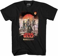 Star Wars Mandalorian Team Desert Disney Adult Tee Graphic T-Shirt Men's Tshirt