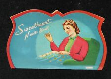 "Vintage 5"" Sweetheart Needle Book Marked ""Japan"" - Cool Graphic"