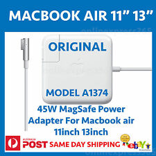 "Original apple 45w genuine Power Adapter charger Macbook Air 11"" 13"" A1374"