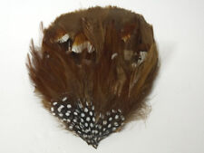 GOOSE FEATHER PAD - Chocolate BROWN; Headband,Hats,Grizzly,Hair,Bridal