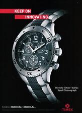 Timex T Series Sport Chronograph Watch print ad 2008