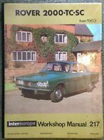 Rover 2000 TC, SC (from1963) Workshop Manual